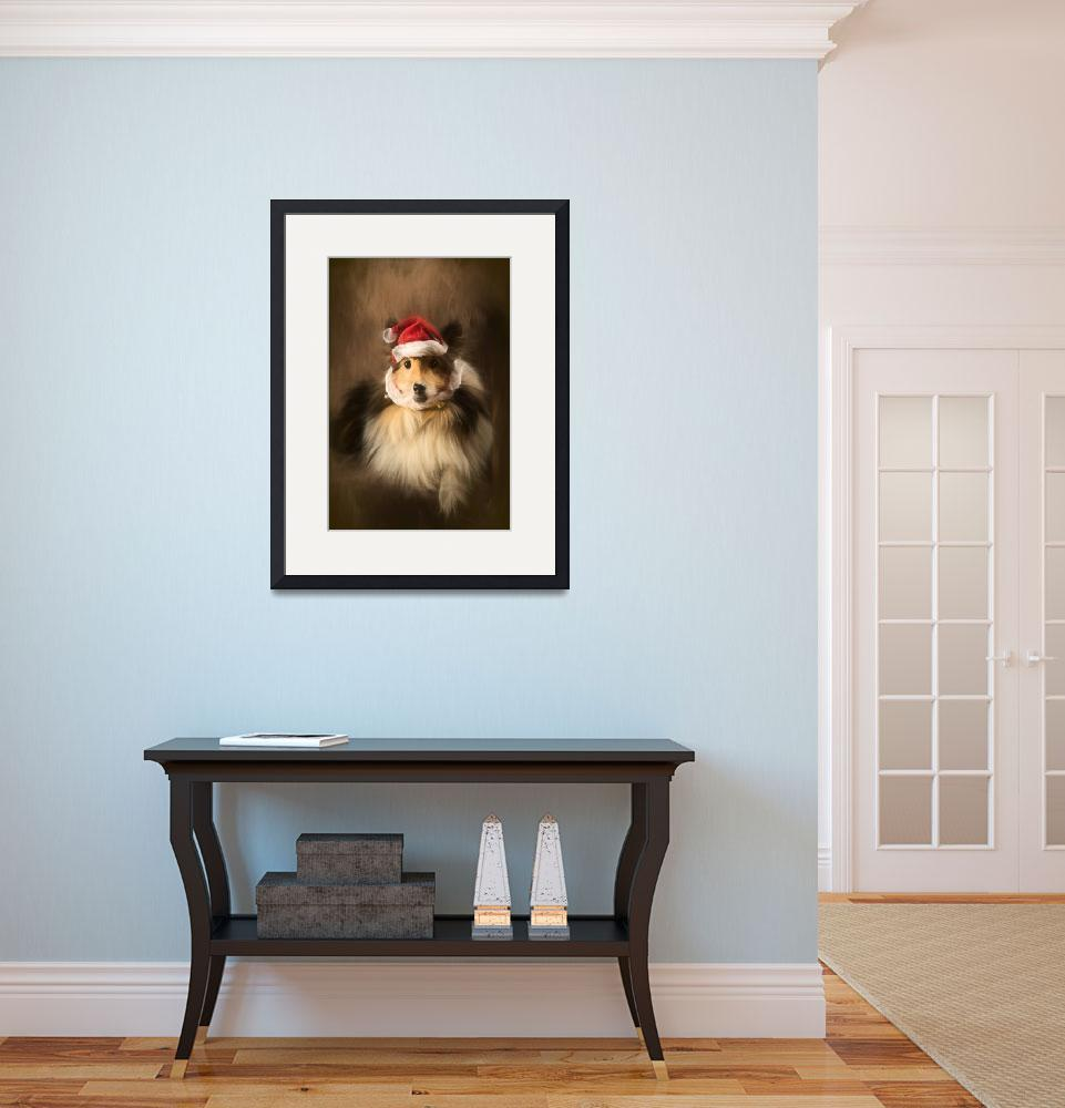 """""""Christmas Sheltie&quot  (2016) by AnnG"""