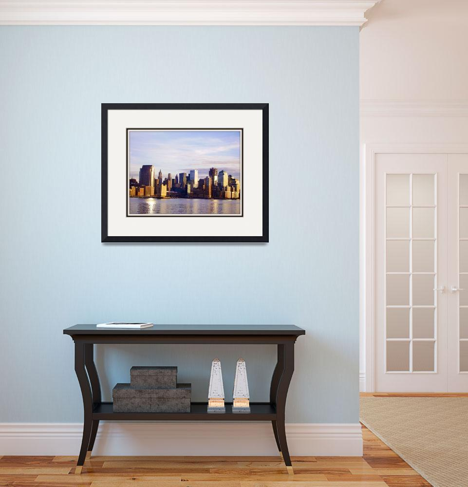 """""""NYC sky line&quot  (2008) by assilem9152001"""