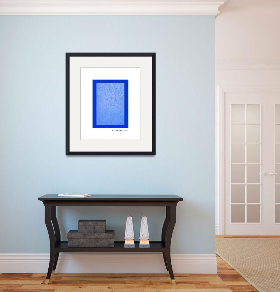 """""""Bright Blue Texture Wall Art&quot  (2012) by AlysonFennellPhoto"""