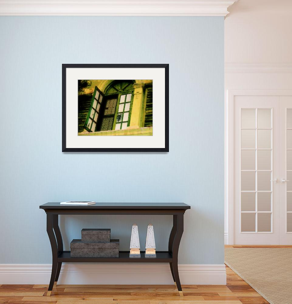 """""""Green Old Window and Shutters, by Nawfal Johnson N&quot  (2012) by nawfalnur"""
