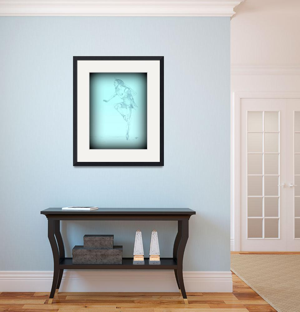 """""""Ballerina turquoise vignette&quot  (2012) by TaylorMadeArtUS"""