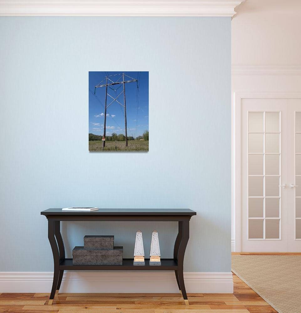 """""""Associated Electric Cooperative 345-kV H-Frame&quot  (2012) by TheElectricOrphanage"""