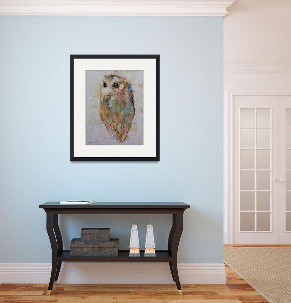 """""""Owl Painting&quot  by creese"""