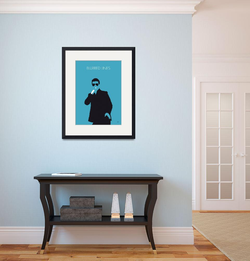 """""""No055 MY ROBIN THICKE Minimal Music poster&quot  by Chungkong"""