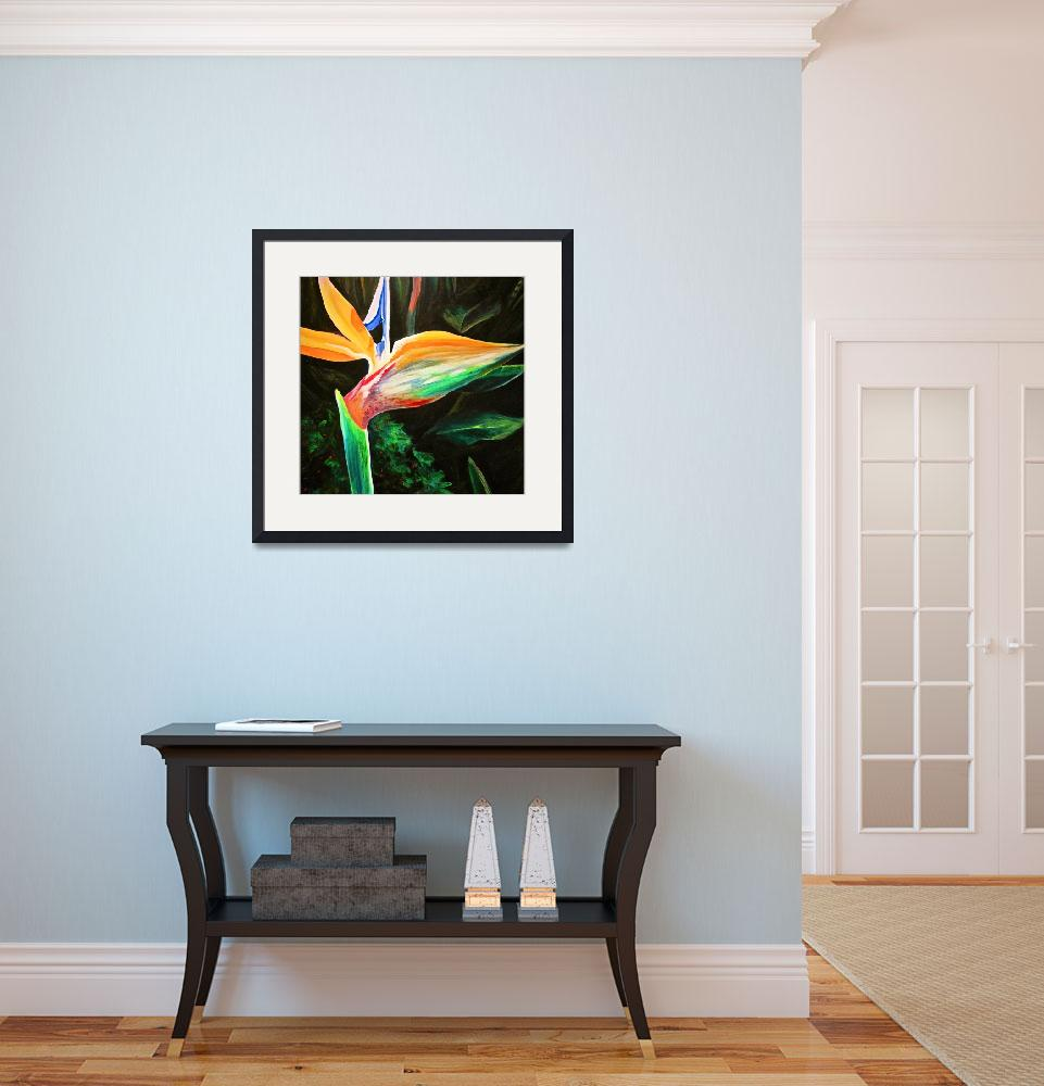 """""""Bird of Paradise&quot  (2010) by rebeccafoster"""