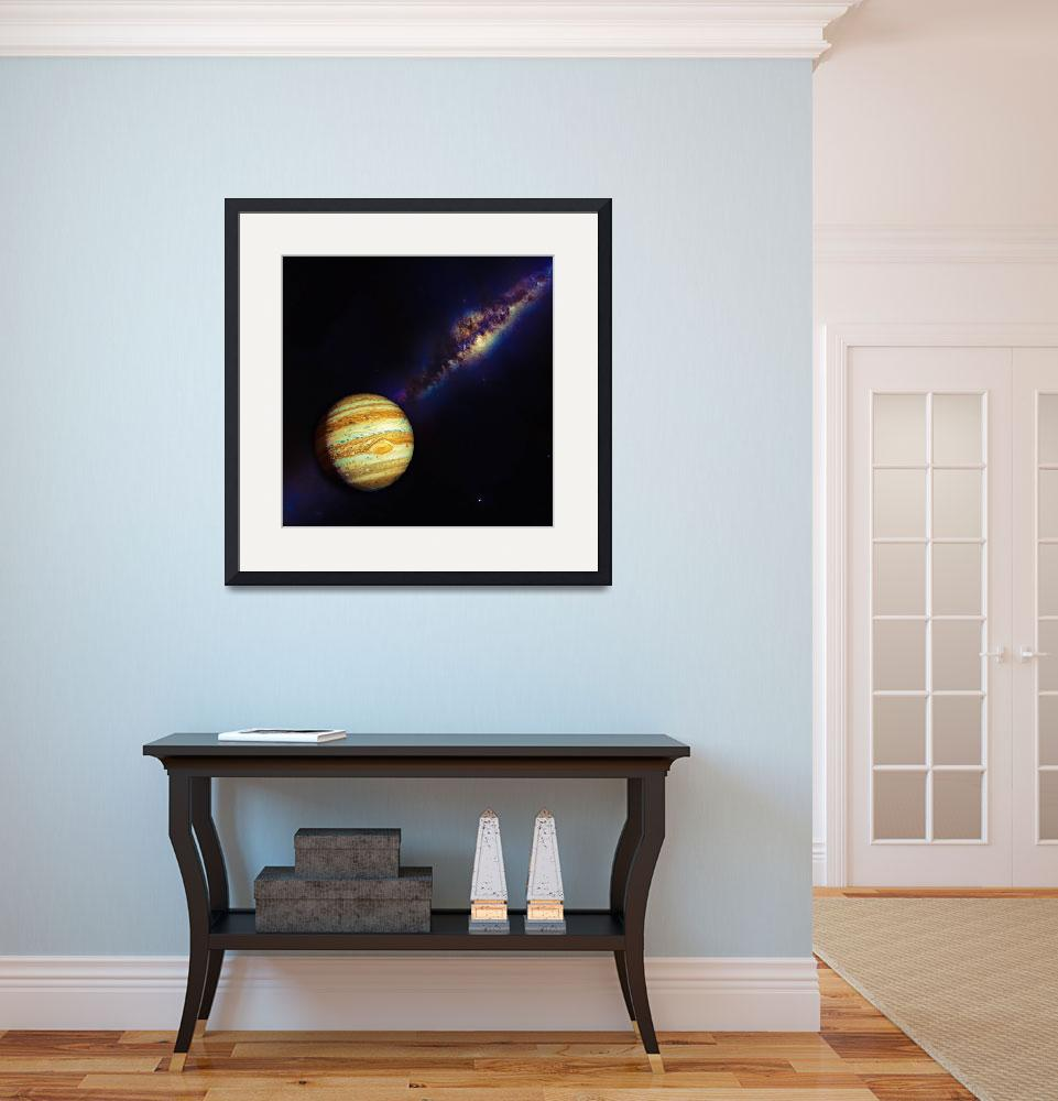 """""""Jupiter and The Milkyway Galaxy by Adam Asar  2&quot  by motionage"""