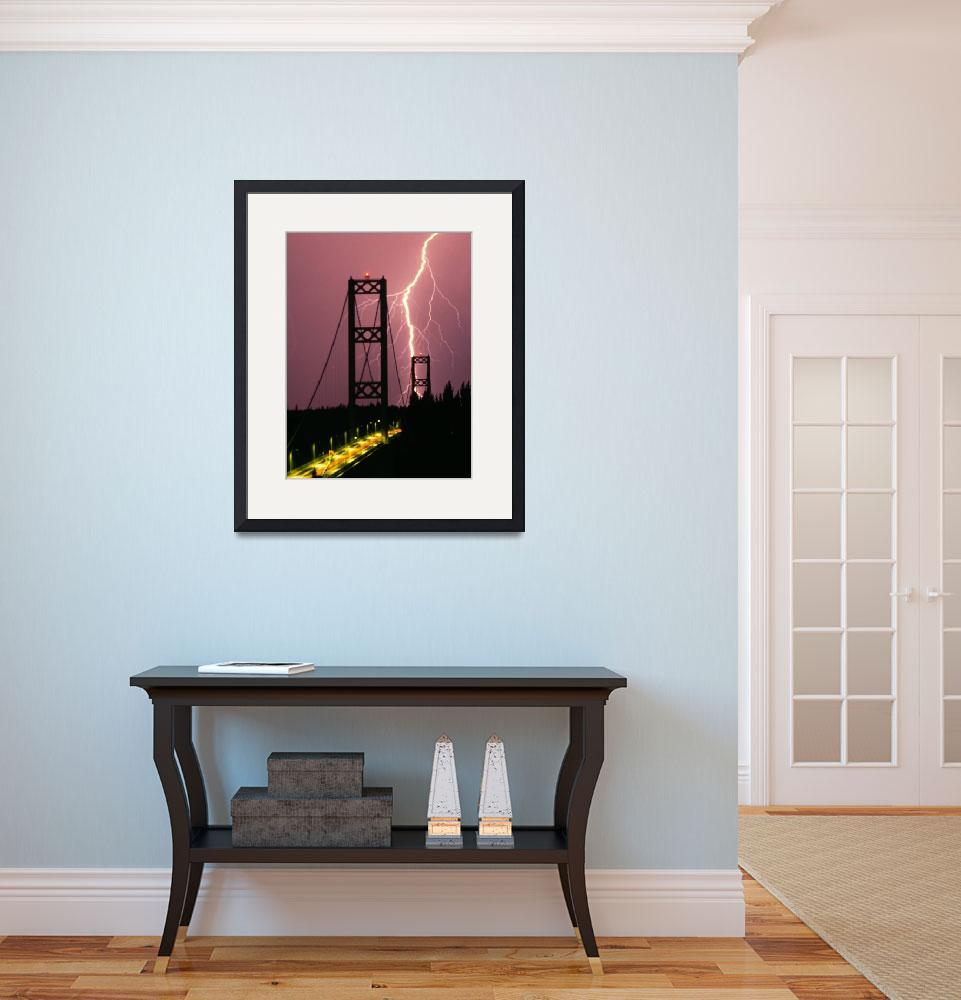 """""""Tacoma Narrows Lightning&quot  (1994) by christopherboswell"""