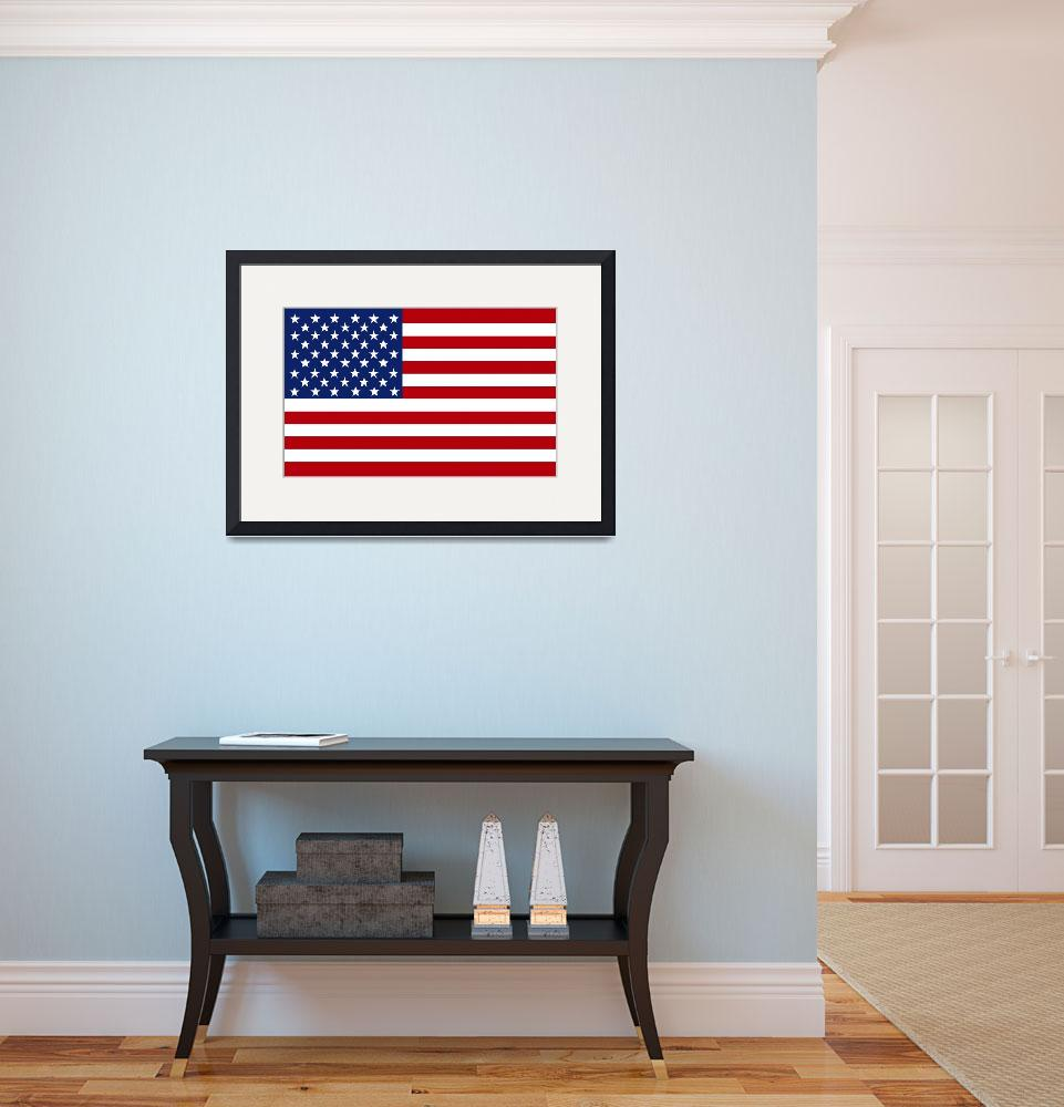 """""""Stars & Stripes extra gallery wrap image format.&quot  by FantaSeaArt"""