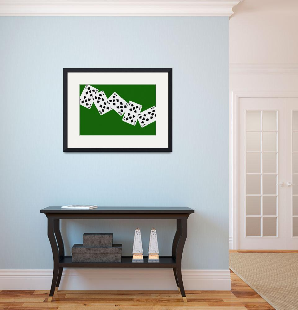 """""""Playing Cards Ten of Spades on Green Background&quot  by NatalieKinnear"""