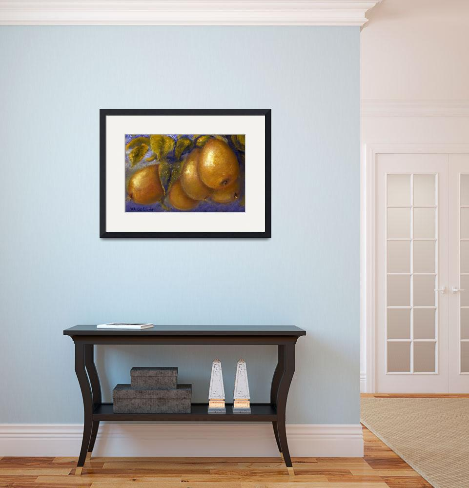 """""""Pears in Blue&quot  (2004) by Lenora"""