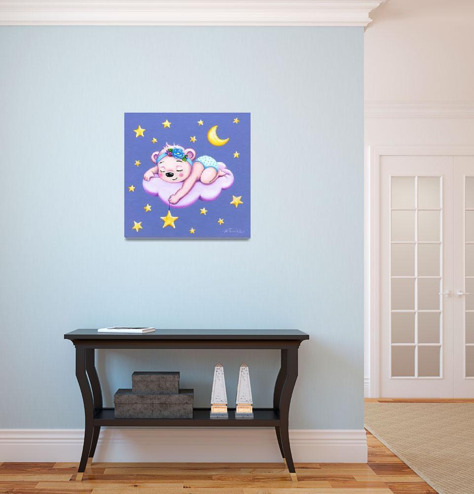 """Sleeping Bear, nursery room decor&quot  (2018) by nopiepan"