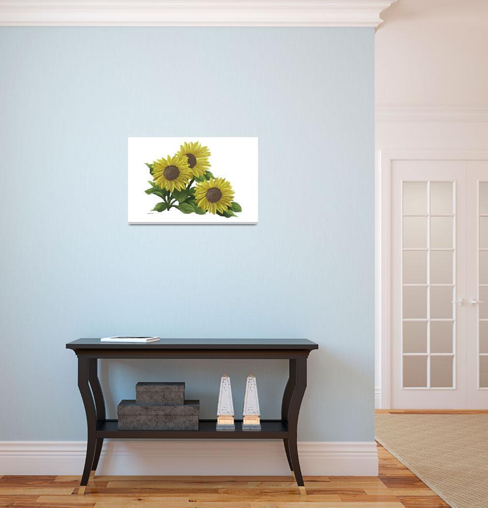 """Sunflower Art""  by waterart"