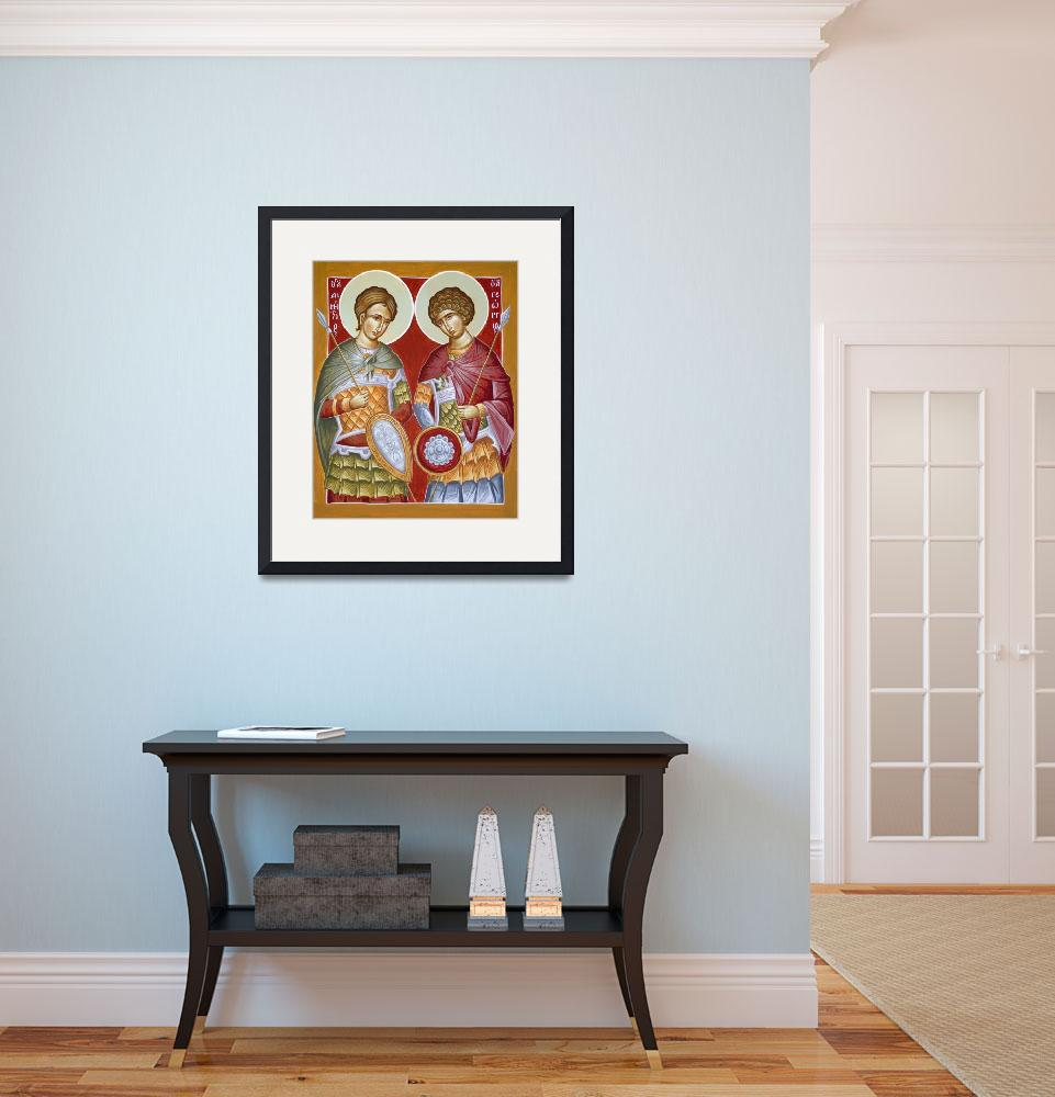 """""""Sts Dimitrios and George&quot  (2012) by ikonographics"""
