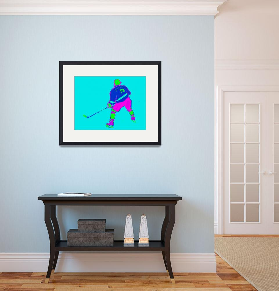 """Hockey Center aqua blue purple green (c)&quot  (2014) by edmarion"