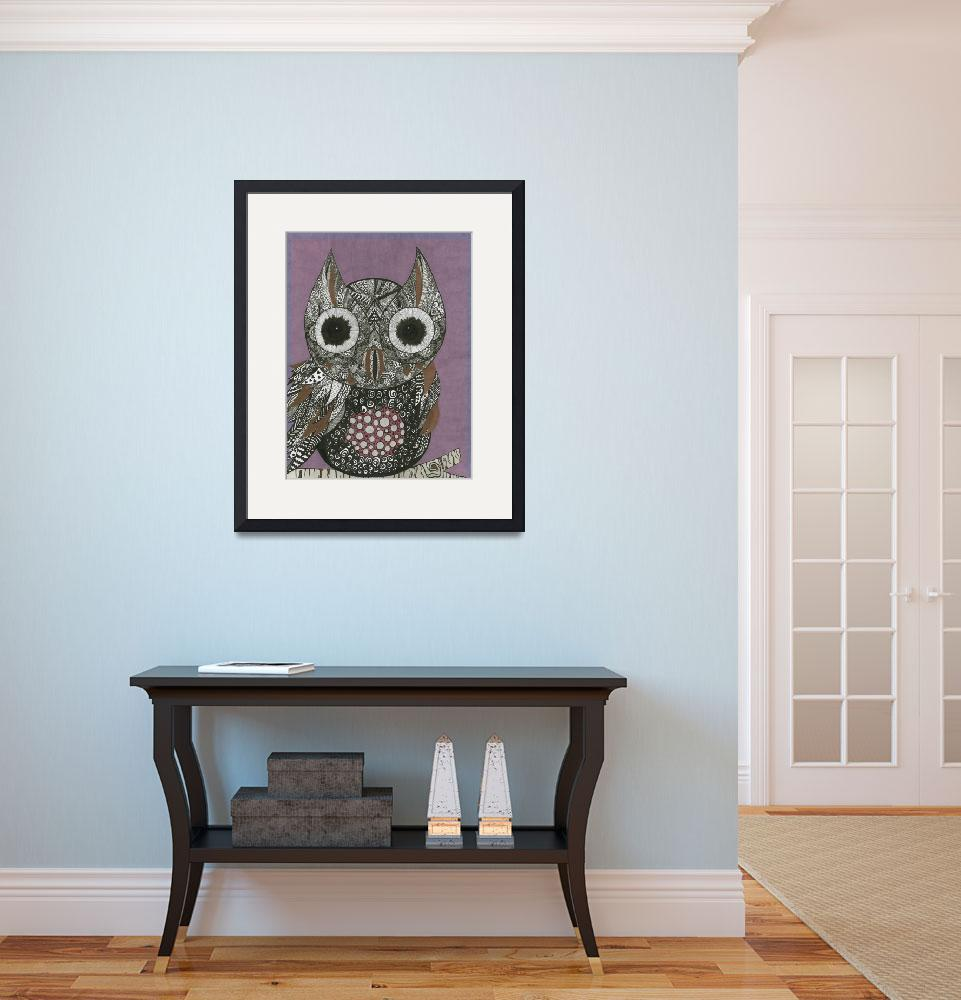 """""""Owl&quot  (2017) by MarilynE"""