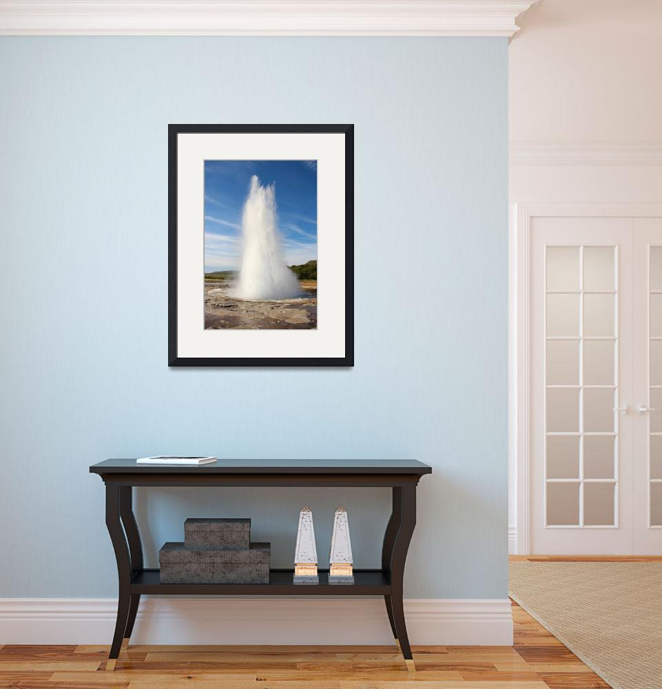 """Strokkur Erupting 2&quot  (2010) by ericalee"