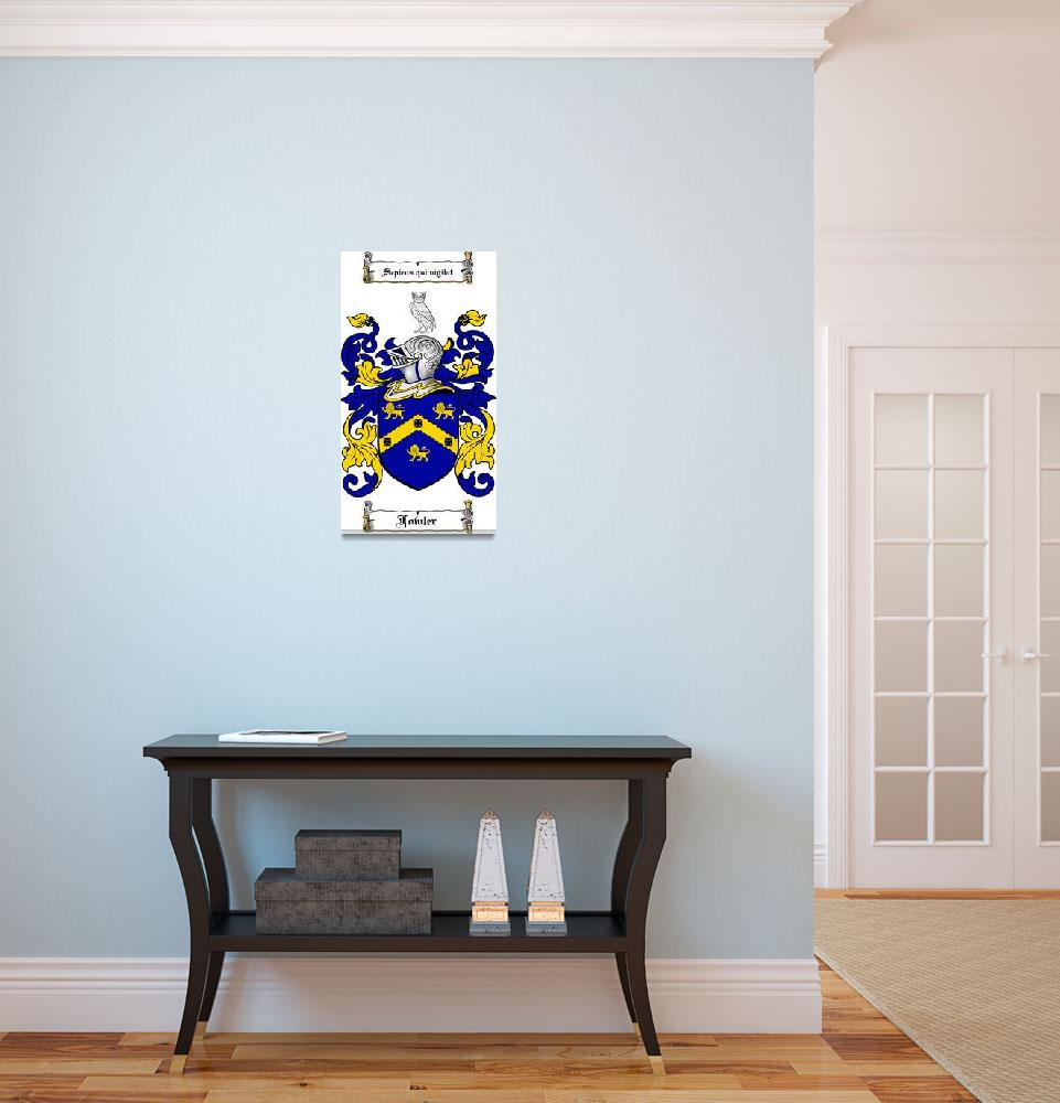 """FOWLER FAMILY CREST - COAT OF ARMS&quot  by coatofarms"