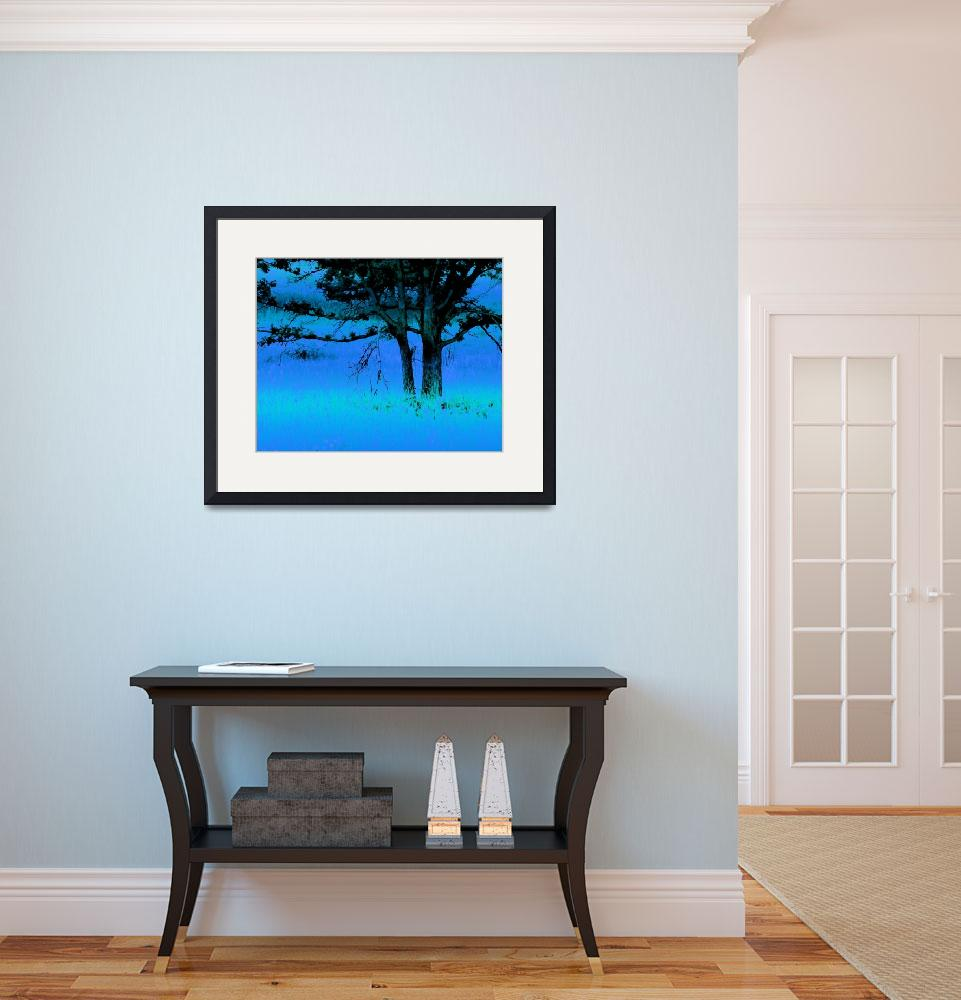 """""""Trees on a Hill&quot  (2013) by bonniebruno"""