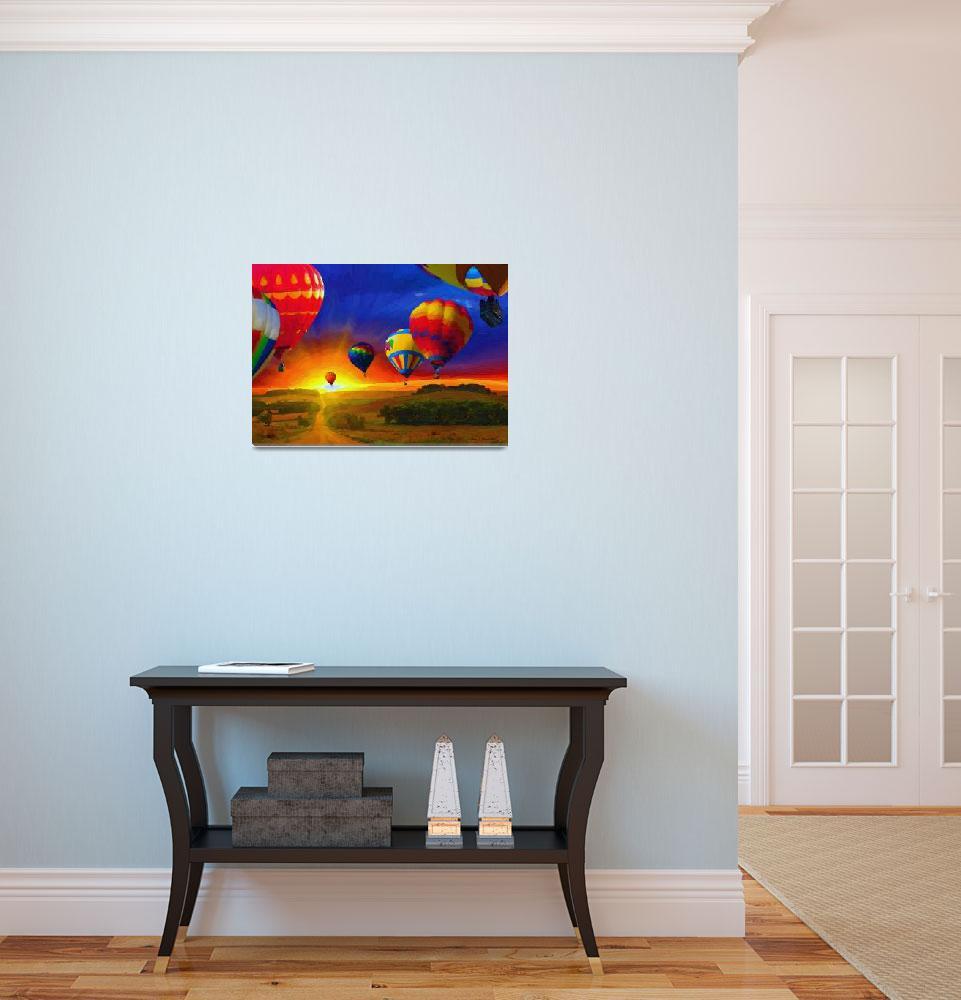 """Hot Air Balloons""  (2011) by artstoreroom"