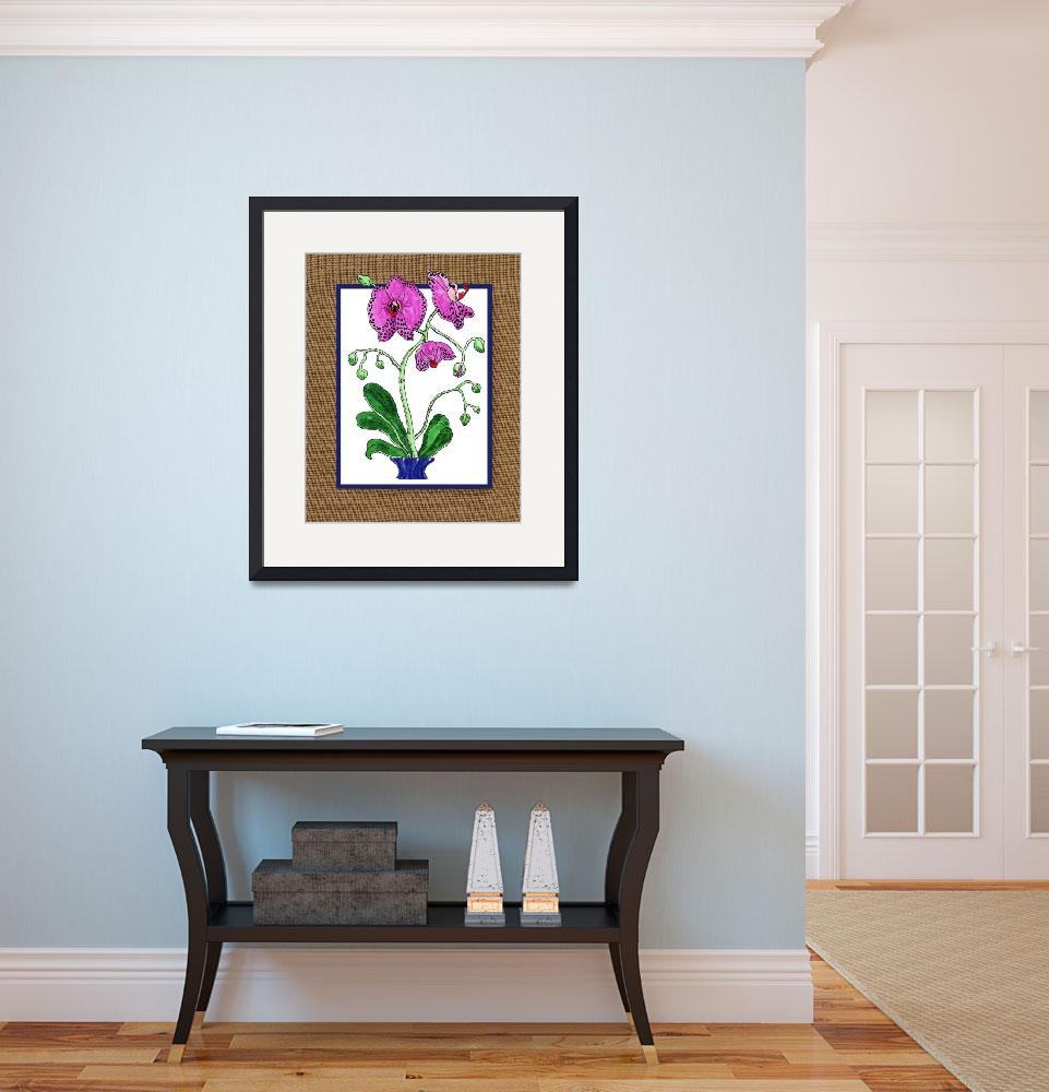 """Gorgeous Orchid Watercolor Painting for Home Decor&quot  (2018) by IrinaSztukowski"