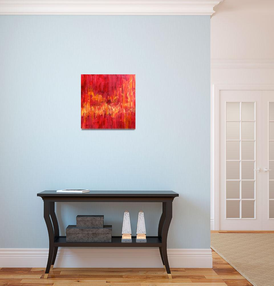 """Glistening Reds&quot  (2015) by LeslieSaetaFineArt"
