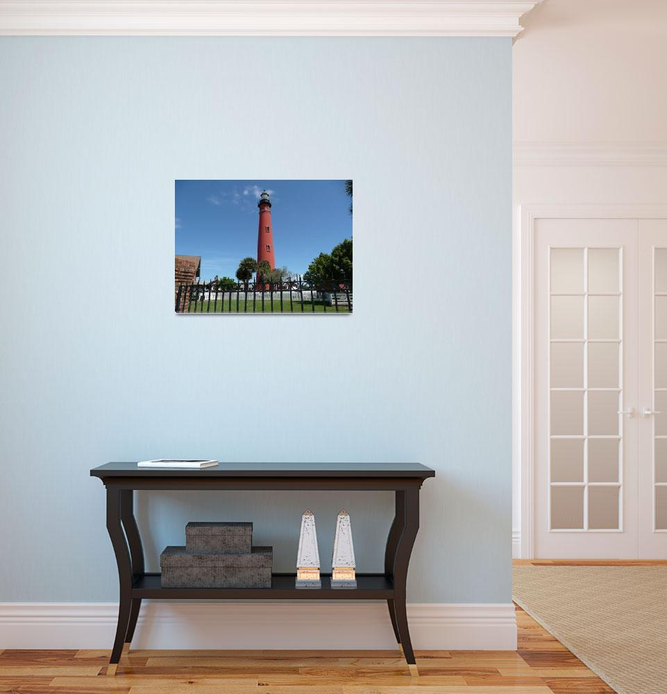 """""""Red Lighthouse at Ponce Inlet, FLA 04&quot  (2009) by photographybydonna"""