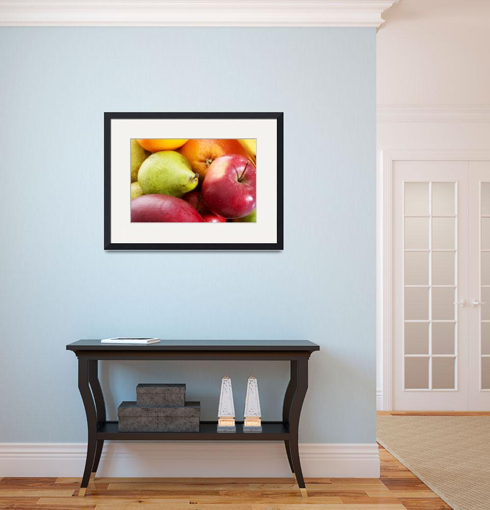 """Close up on fruit composition- apples, peaches and""  by Piotr_Marcinski"