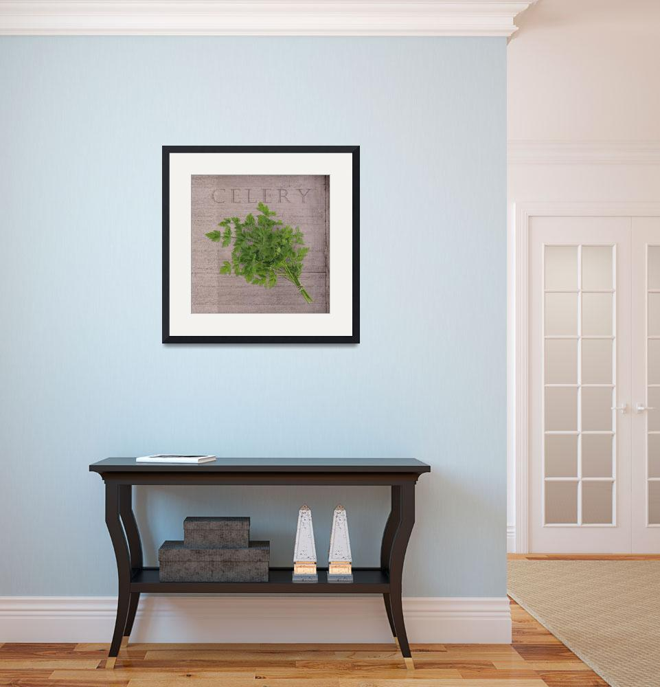 """""""Classic herbs series: Celery&quot  (2012) by CoraNiele"""