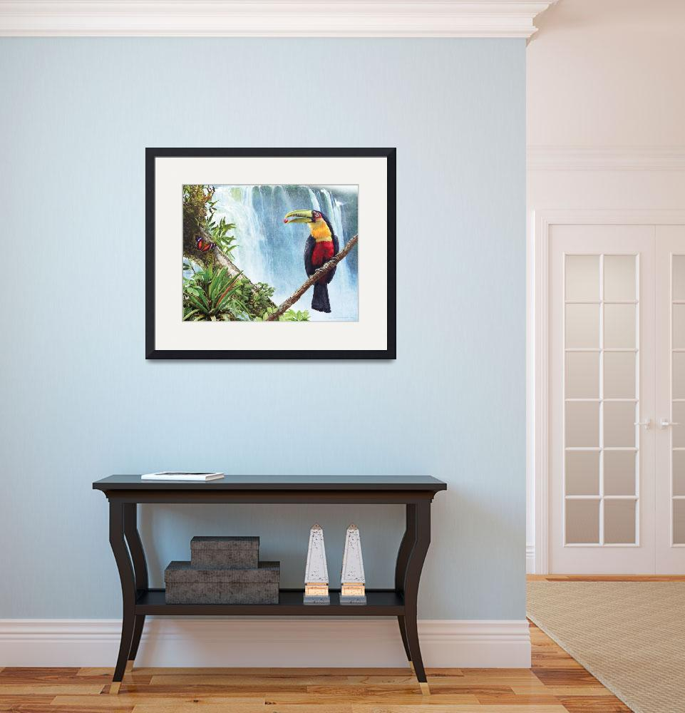 """""""red breasted toucan by the falls&quot  (2011) by rchristophervest"""