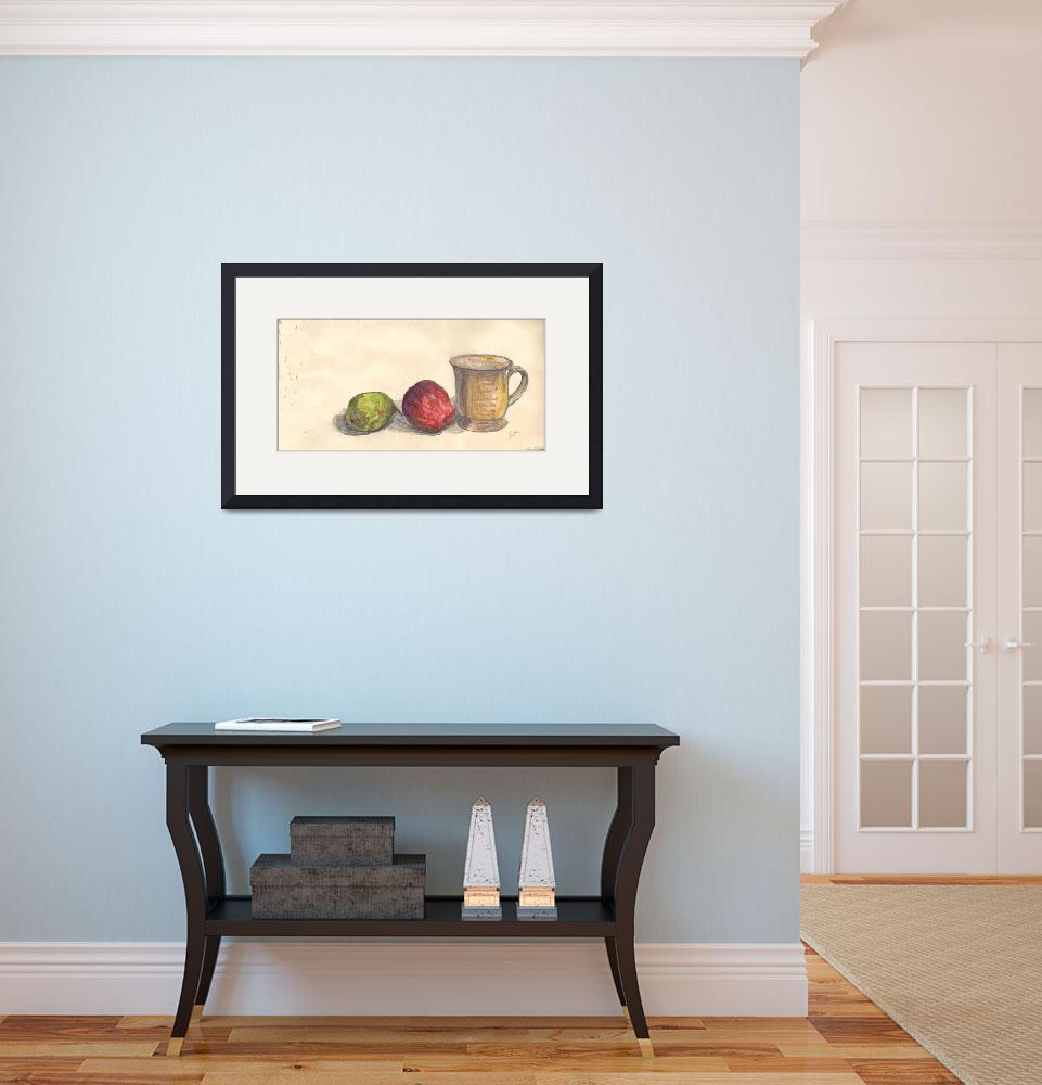 """""""Cup, Apple & Pear&quot  (2013) by InbalSarid"""