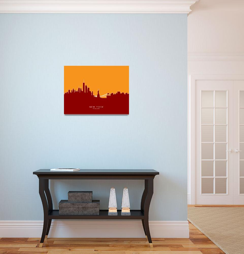 """New York Skyline&quot  (2014) by ModernArtPrints"