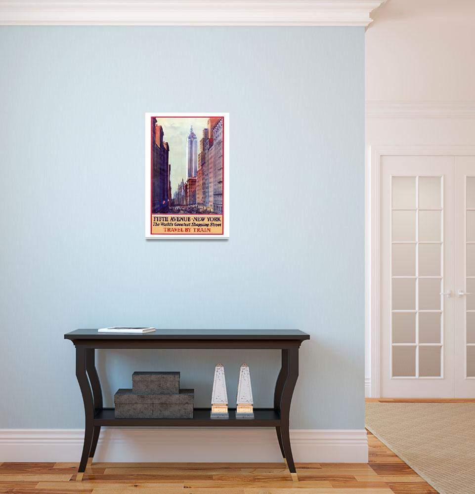 """Vintage New York Travel Poster #5&quot  (1932) by jvorzimmer"