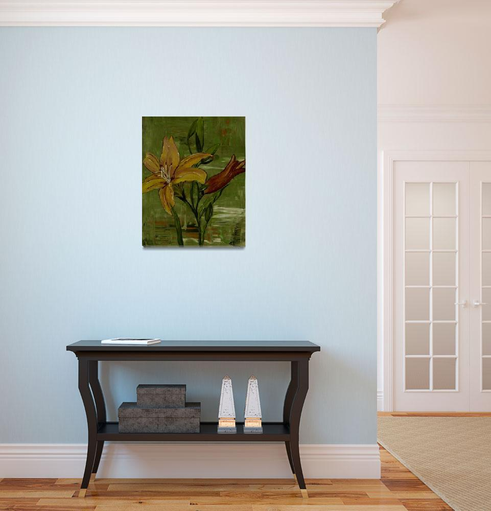 """""""lilies in the pond&quot  (2013) by elaineart"""