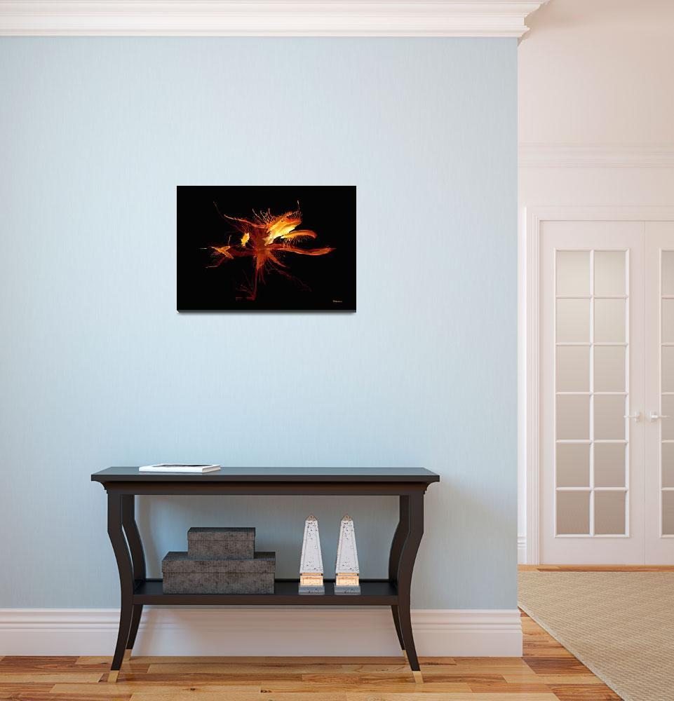"""""""37d Fiery Expressive Abstract Painting&quot  (2017) by Ricardos"""