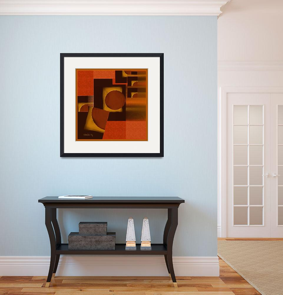 """""""A geometric abstract""""  (2014) by Nedunseralathan"""
