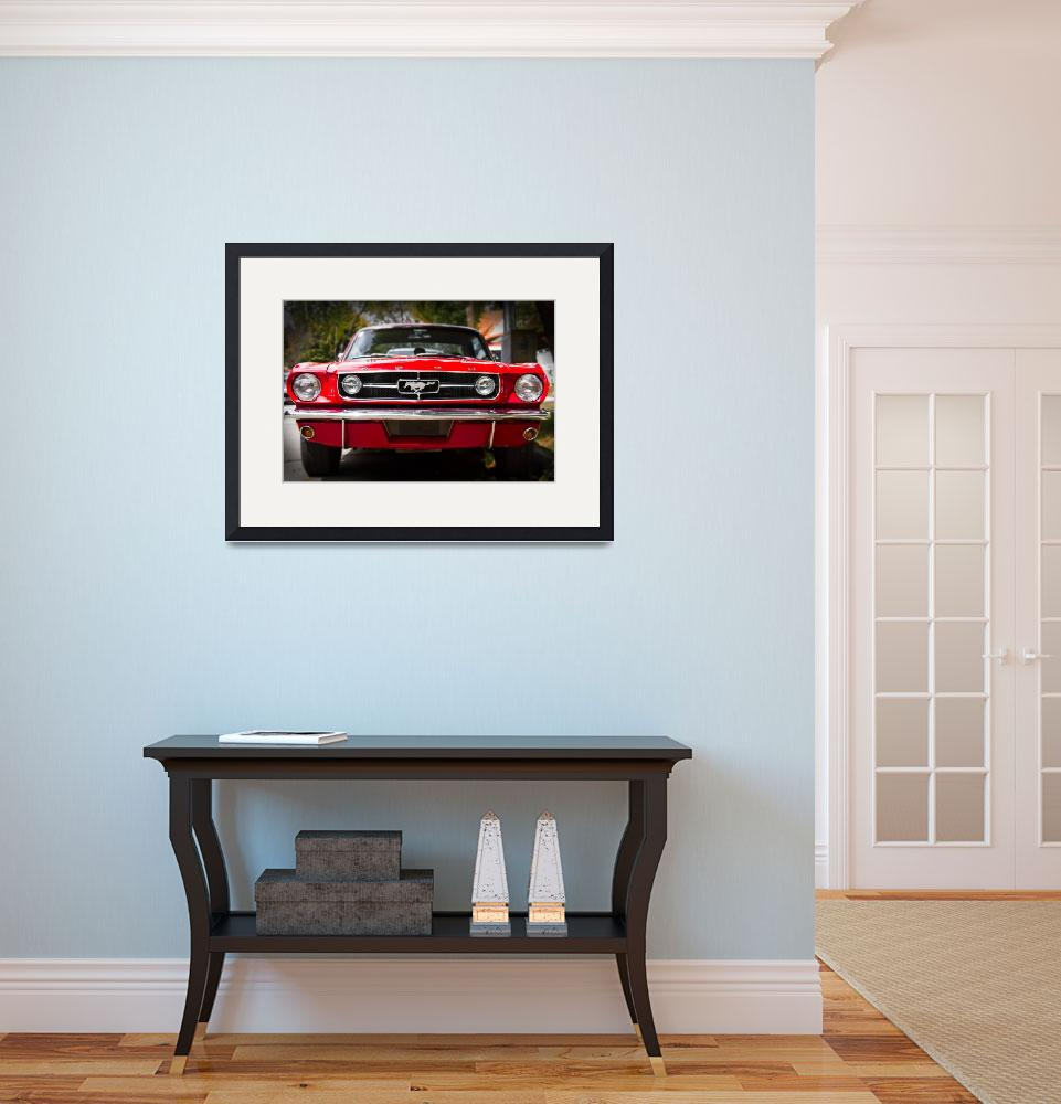 """""""Ford Mustang 65 """"The Red Pony""""&quot  (2013) by felixpadrosa"""
