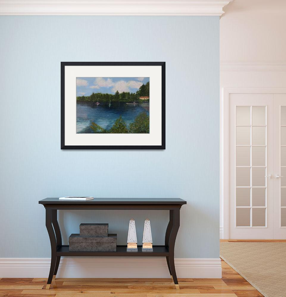 """""""Boat House Pearly Pond&quot  (2008) by paulshelley"""