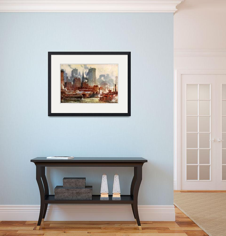 """""""Colin Campbell Cooper Art Framed Print&quot  by buddakats1"""