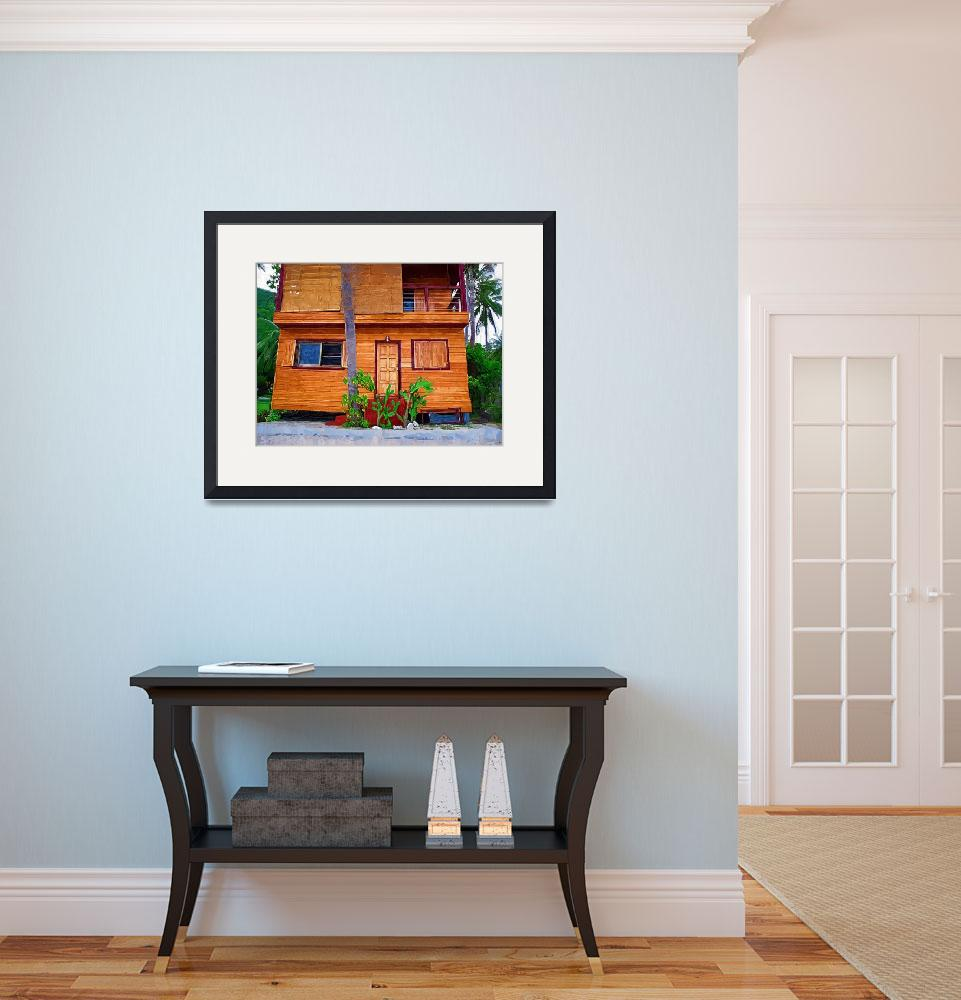 """""""Wooden House Impasto Painting&quot  (2009) by talgreen"""