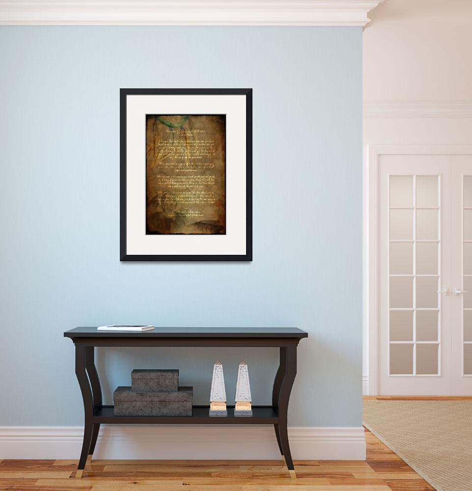 """""""Framed Prints Tecumseh Poem - Act of Valor Movie&quot  (2012) by WaynePhotoGuy"""