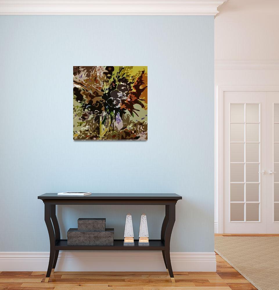 """""""Floral  study""""  (2010) by Mygallerydigitalart"""