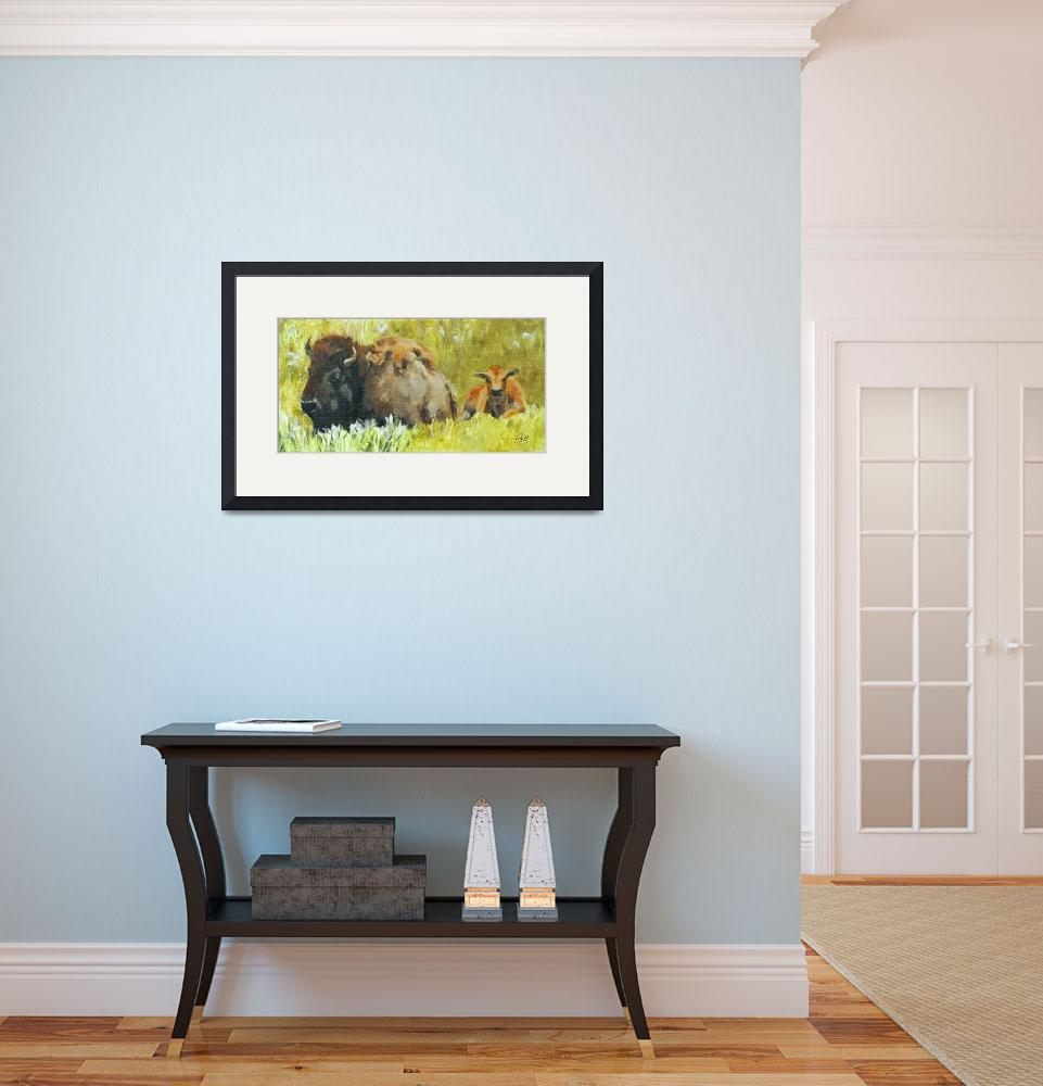 """""""Bison&quot  (2014) by pamelapoll"""