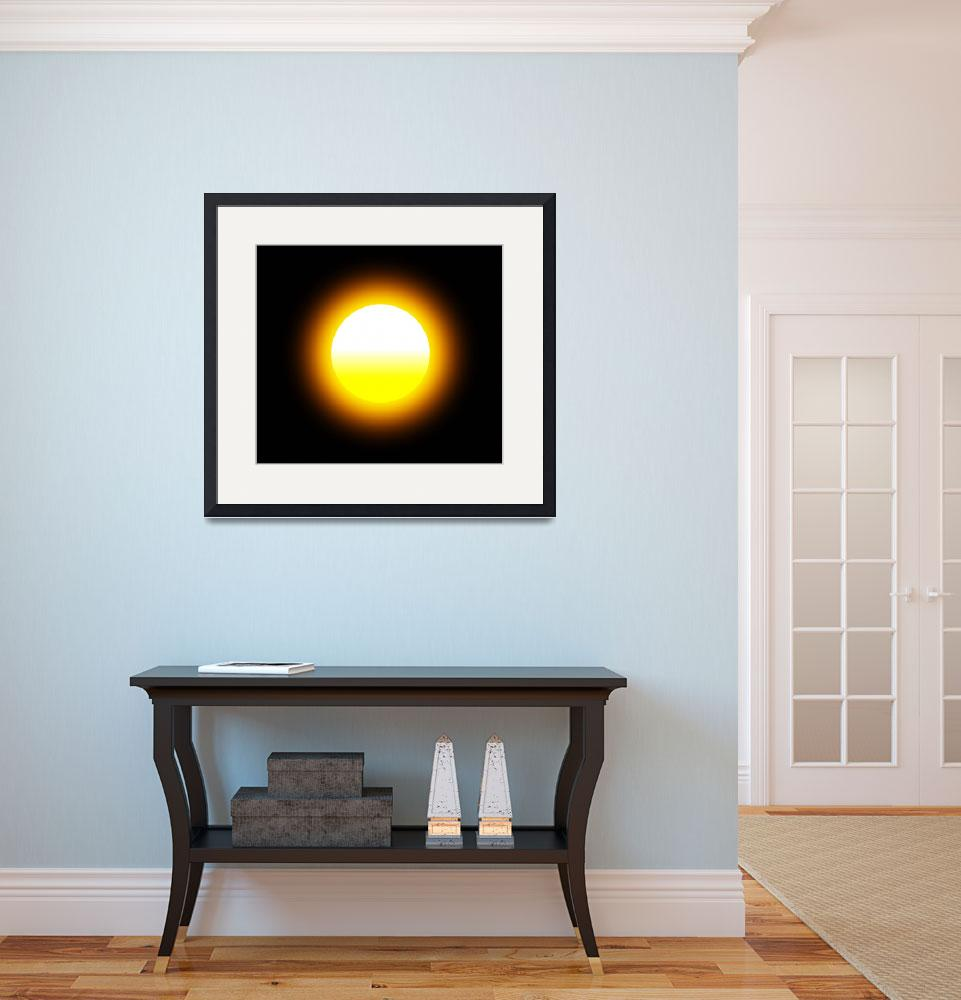 """Glowing Sun&quot  (2014) by MarilynsArt"