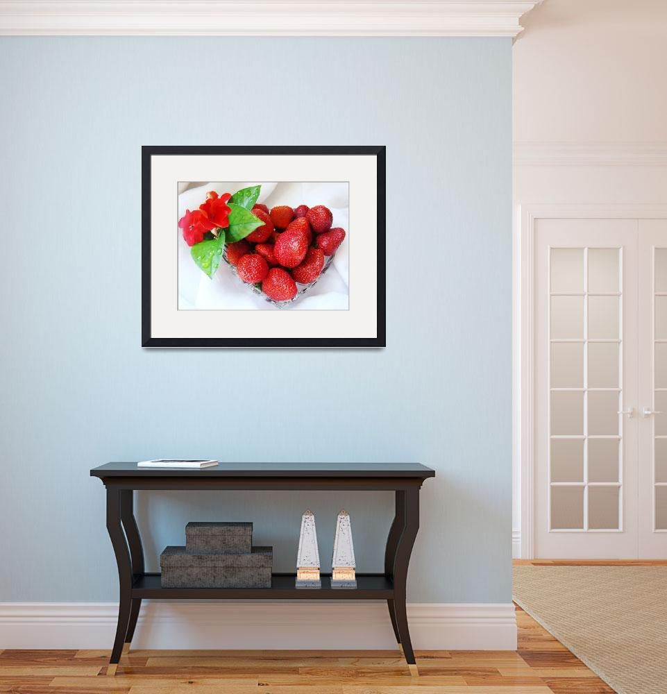 """""""Fresh strawberries&quot  (2007) by RodicaNelson"""