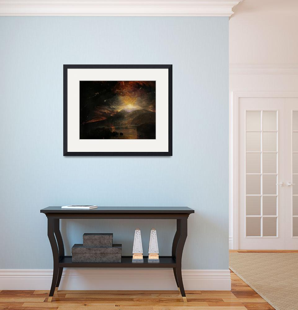 """""""The Eruption of the Soufriere Mountains in the Isl&quot  by fineartmasters"""