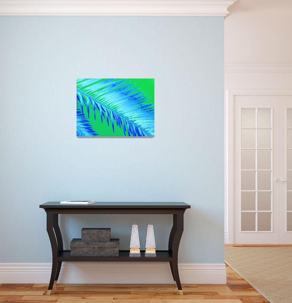 """""""Frond Blue&quot  (2010) by Debrene"""