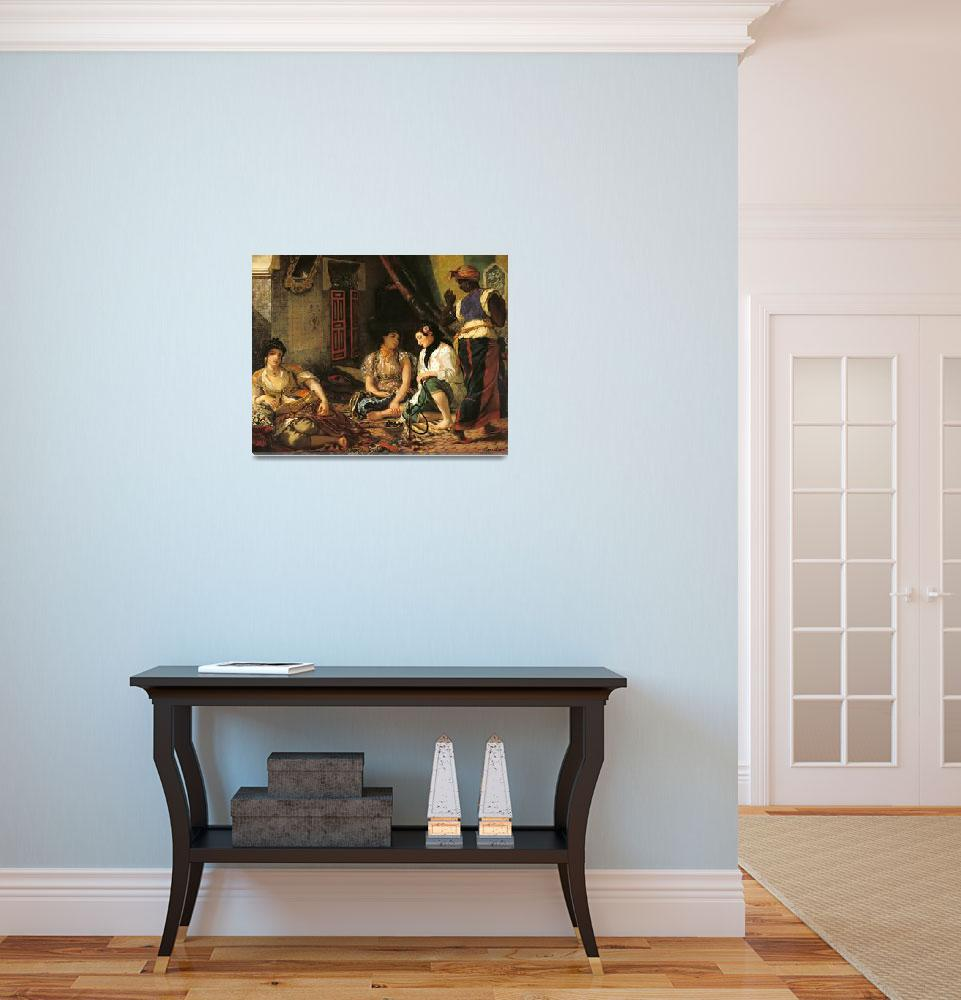 """The Women of Algiers in their Apartment Delacroix""  by fineartmasters"