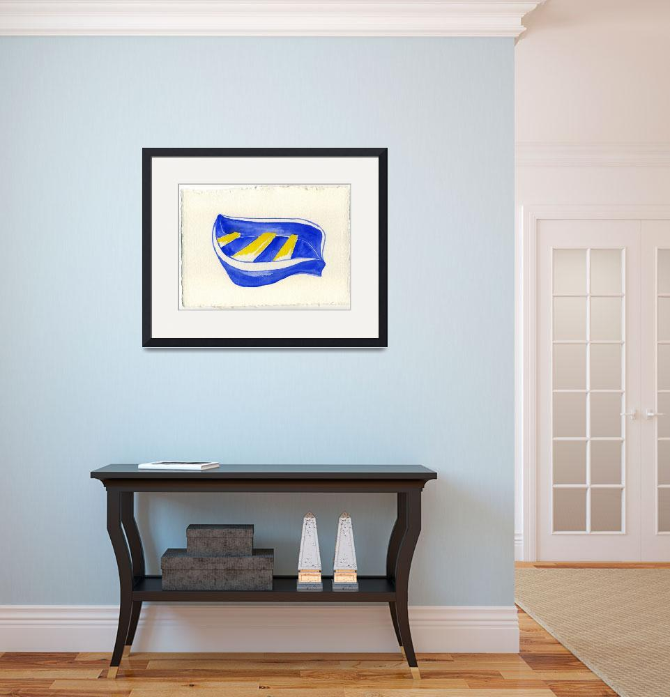 """""""boat blue and yellow""""  (2009) by bambirogers"""