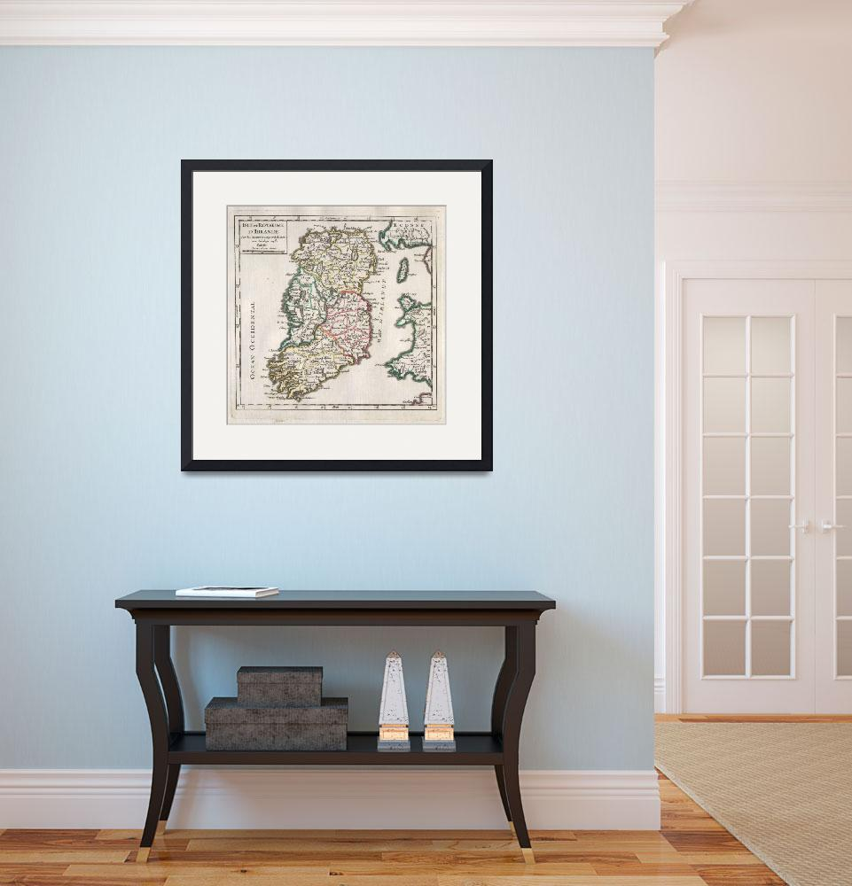 """Vintage Map of Ireland (1748)""  by Alleycatshirts"