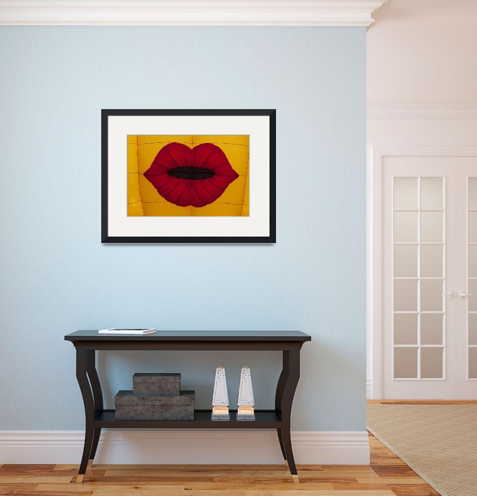 """""""Red Graphic Lips&quot  (2013) by photogarry"""